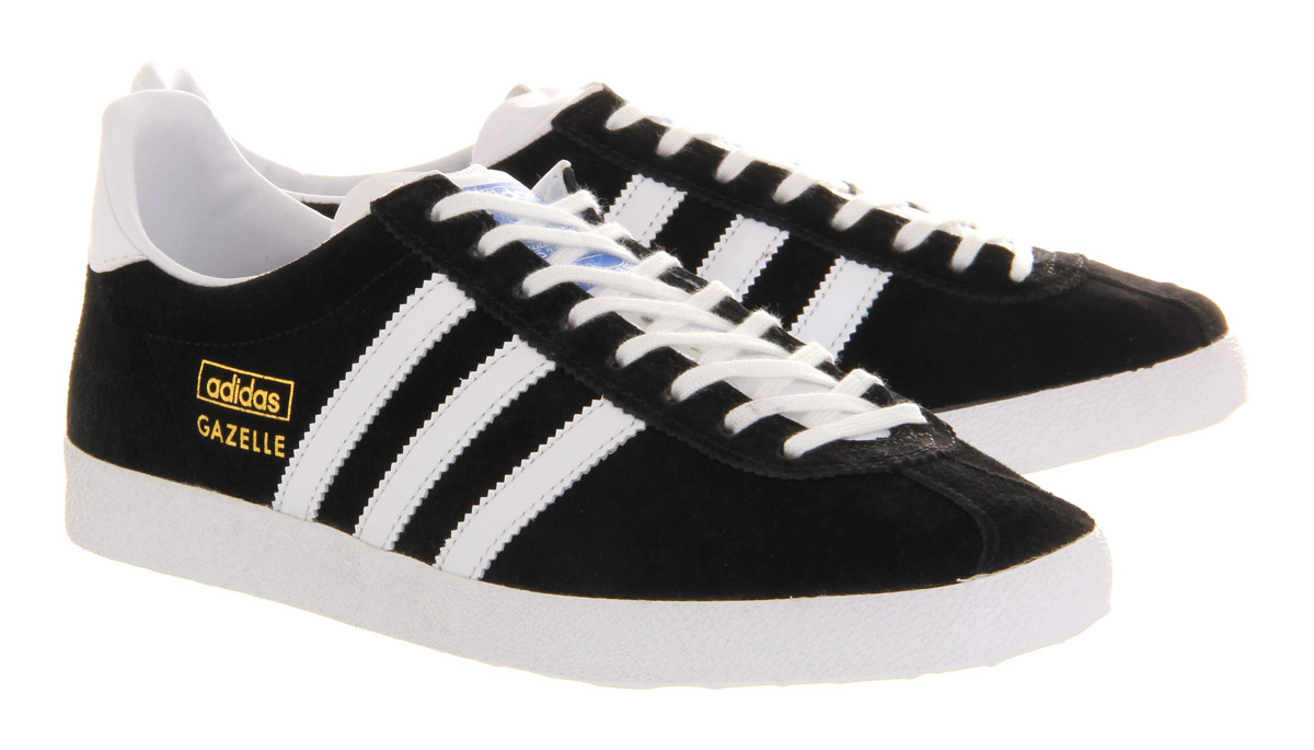 black suede adidas trainers